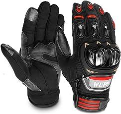 GESPERT Motorradhandschuhe, Motorrad Handschuh für Herren und Damen,Fitness Handschuhe Touchscreen handschuhe für Outdoor,Fahrrad Radfahren,Airsoft Militär,Sport und so weiter,Scharwz (21-22CM)