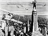 Artland Qualitätsbilder I Alu Dibond Bilder Alu Art 80 x 60 cm Film TV Film Foto Schwarz Weiß B8LC King Kong 1933