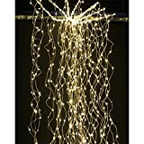 AM-Design · LED-Draht-Lichtfächer Big Bubble Silberdraht Flash-Funktion 1152 Lichter 220cm · silber warmweiß [Effizienzklasse: A+ Spektrum: A++ bis A]
