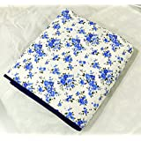 Handcraftd Summer Special 100% Premium Anti-pilling Super Soft Cotton Floral Print Single Bed Dohar/ Summer AC Quilt/ AC Comforter- Blue Iris Flowers