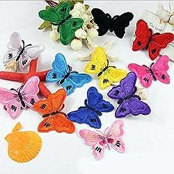 12pcs Mix farfalla ricamo Appliques Cucire ferro sulle zone Distintivo Bag vestiti tessuto delle decorazioni DIY