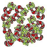 Sharplace 50 Stück Gemischte Weihnachtsserie Holzknöpfe Zum Nähen Basteln - Zuckerstange, 18x26x2mm