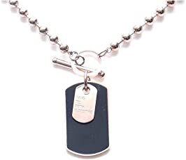 REGALIE Unisex Collection Premium Quality 316 Stainless Steel Beaded Dog Tag Long Chain for Men and Women - Grab Before Its Gone!