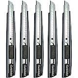Gebildet 5st Professionell Hantverkskniv/9mm Snäppblad/60 Graders Foliekniv/Mattkniv/Grafisk Kniv/Perfekt för Folier, Tapeter