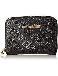 Love Moschino - Portafogli Embossed Pu Nero, Carteras de mano Mujer, Schwarz (Black), 10x13x2 cm (W x H D)
