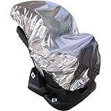 Lictin 113 x 110cm Cubierta Universal para Silla de Coche 100% de Material Ecologico de Aluminio Cubierta de Polvo Calor Prot