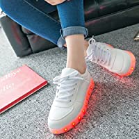 SHIHUA 7 Colors 11 Modes LED Luminous Shoes Unisex Sneakers Men & Women Sneakers Usb Charging Light Shoes Colorful Glowing Leisure Flat Shoes (Us Size 7) by shihua