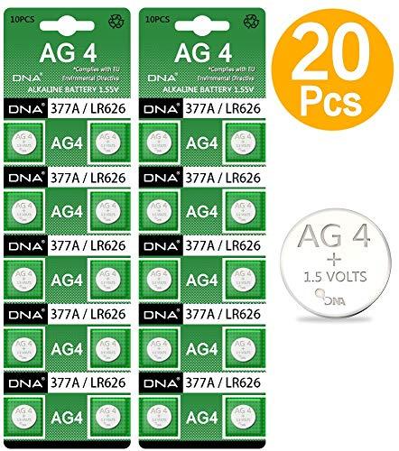 DNA 20 x AG4 LR626 377 SR626 606 Uhrenbatterien