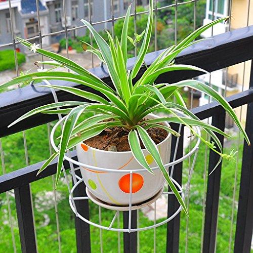 Gaphuajia cyjz® fiore rack, stile europeo fioriera da appendere alla parete ringhiera sospensione in ferro bianco resistente alla corrosione