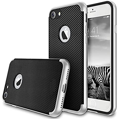 Custodia iPhone 7, Yica [Heavy Duty] iPhone 7 Respingente di Caso 2 in 1 Armatura Ibrida [Dual Protection] Assorbimento di Scossa Antigraffio Caso Duro della Copertura Posteriore per iPhone 7,4.7