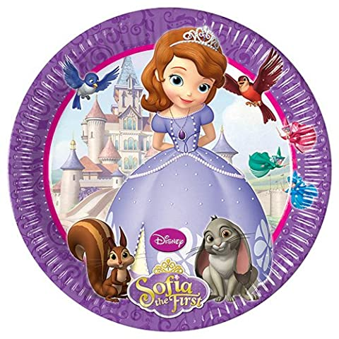 23cm Disney Sofia the First Party Plates, Pack of 8