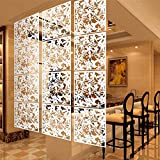 LRZCGB Hanging Room Divider,12pcs Safety PVC Screen Panel with Butterfly Flower and Bird for Decorating Living, Dining, Study and Sitting-room, Hotel, Bar(12,white02)