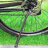 ICOCOPRO Fahrrad Seitenständer, Verstellbar, aus Aluminium-Legierung, Ständer, für 26