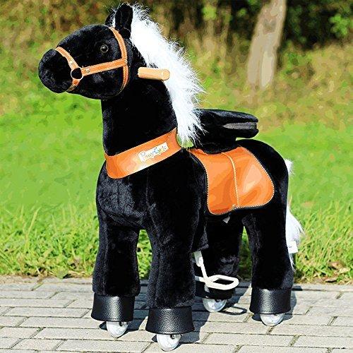 """Ponycycle """" Black Beauty"""" Pferd schwarz, Pony auf Rollen fahrendes Schaukelpferd und Kuscheltier für Ihr Kind von MyPony (Small)"""