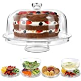 Maharaj Mall 3-in-1 Multifunction Acrylic Cake Stand