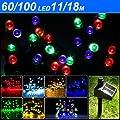 Yesurprise 60 bunte solar LED Lichterkette Außen Beleuchtung Weihnachten Gartendekoration von Yesurprise.co.ltd - Lampenhans.de