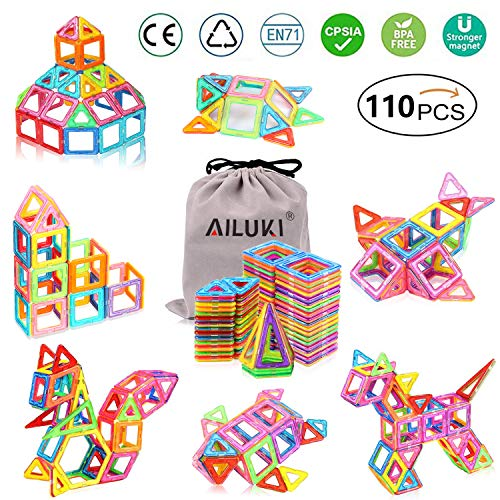 tische Bauklötze Set Magnet Bausteine Konstruktion Blöcke DIY 3D Pädagogische Spielzeug Geburtstag Kindertag Geschenk für Kinder Kleinkind ()