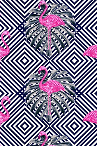 Bullet Journal Tropical Flamingo: Tropical Print 6x9 Dot Grid Notebook | Bright, Floral Style