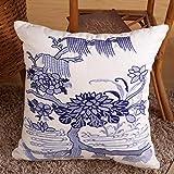 SUN ll-backrest Cotone e lino ricamo cuscino Folk-custom Divano Cuscino Cuscino (Colore : A)
