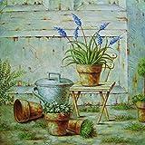 My Flair 122009 Wandbild Jolin, Holz, weiß, 51 x 3 x 51 cm