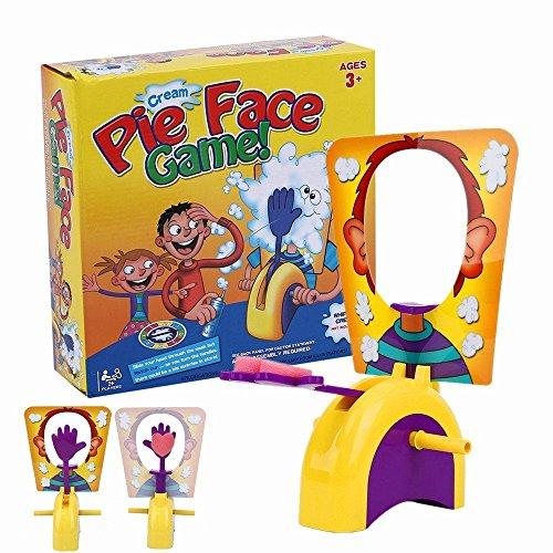 Binghotfire Spiel Pie Face Sprühschaum! Wer Bekommt die Torte ins Gesicht? Partyspiel Eltern-Kind Interaktive Spiel Spaß für Alle!