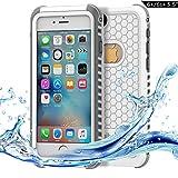 Dailylux Funda impermeable iPhone 6s Plus, Funda para iPhone 6 Plus protectora IP68 Certificado con Touch ID Protector de pantalla incorporado resistente a los golpes para Resistente al Polvo, Lluvia-Blanco + gris