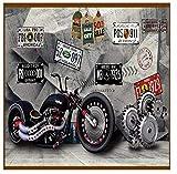 wallpaper, mural, Europa und den Vereinigten Staaten mechanische Motorradausrüstung Werkzeug,...