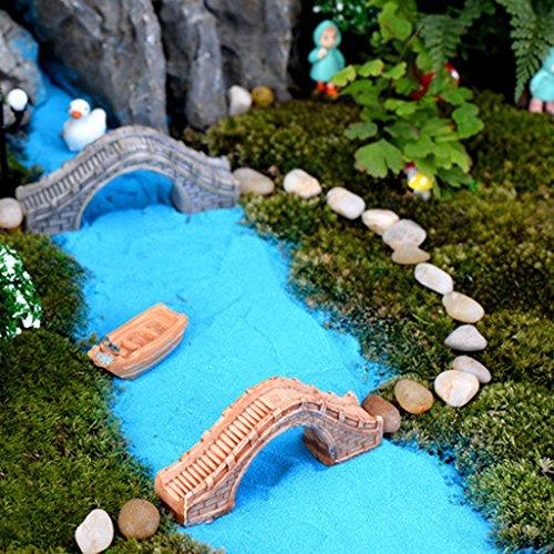 Micro Paesaggio Semicircolare Ponte Passerella Pedonale Mestiere Decorazione Gialla
