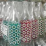 Bottiglia vetro cerve lory daisy acqua da 1 litro (100cl) elegante con tappo meccanico ermetico per acqua olio bevande conserva cocktail