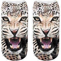 Calcetines divertidos tema de deporte de los modelos lindo de algodón de colores 3D Funny Cheetah [001]