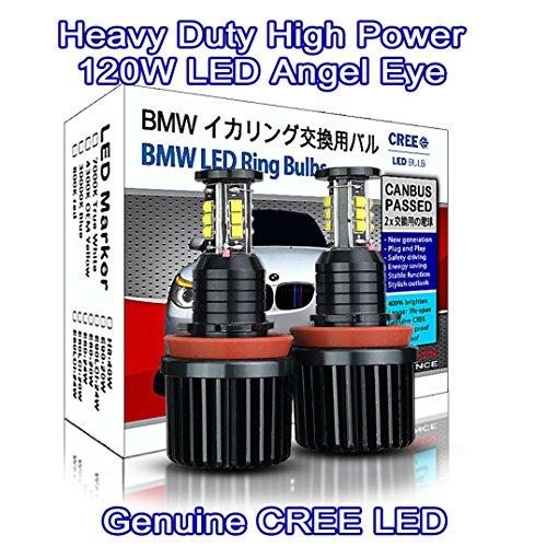 Preisvergleich Produktbild High Power schwere Pflicht H8120W CREE LED Angel Eyes Halo Ring DRL Marker hell weiß 7000K (2Stück)