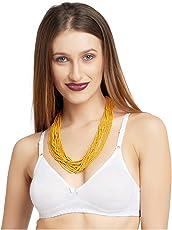 DAISY DEE SKB D'SIZN White B | Women T-Shirt Bra | Wirefree | Regular Straps | Cotton | Pattern Solid | Seamless | Non Padded | Full Coverage