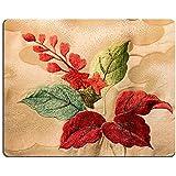 Luxlady caucho Natural Gaming Mousepads Japón patrón de diseño de flores de Kimono japonés estilo imagen de fondo ID 25267597