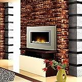 Syntrox Germany XXL - Chimenea eléctrica de pared con efecto de llamas