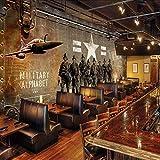Eufjsdhf Papier Peint 3D Affiches de cinéma camouflant des soldats de grande taille...