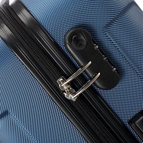 2045 Reisekoffer Koffer Trolley Hartschale XL-L-M in 12 Farben (Dunkelblau,L) - 2