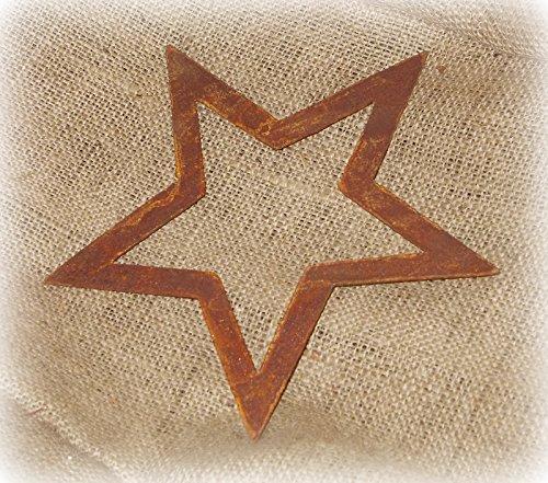 Stern aus Metall mit Rostfinish 25 cm (Metall-sterne-haus)