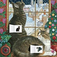 Ivory Cats Christmas Window advent calendar (with stickers)