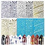 1400pcs Nail Autocollant Noël Sticker Ongle Auto-adhésif Décalque de Transfert Forme Flocon de Neige Renne Sticker Pochoir Décoration Manucure Bricolage Cadeau pour femmes filles