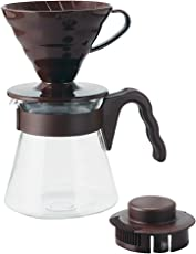 Hario V60 Coffee Dripper and Pot Set (Brown)