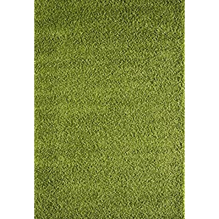 A2Z Rug Shaggy Plain Green 80x150cm - 2'7