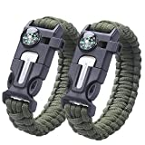 2PCS PACK pulsera de la supervivencia , Sahara Sailor Outdoor Survival Kit Parachute Cord Buckle W...