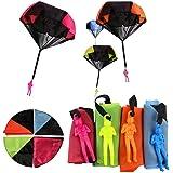 Afufu Fallschirmspringer Spielzeug, 4 Stück Kinder Hand Werfen Fallschirm Fallschirmspringer Wurf Parachute Kinderdrachen Spielzeug Geschenk für Weihnachten Kinder(Produkt mit Verpackungsbox)