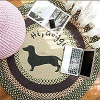 Europäischer Einfacher Teppichboden Cotton Line Weave Round Teppich  Wohnzimmer Schlafzimmer Couchtisch Teppich Round Hocker Swivel Stuhl