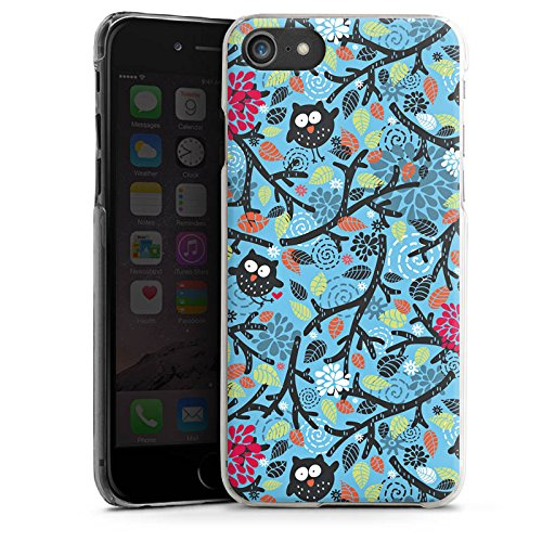 Apple iPhone X Silikon Hülle Case Schutzhülle Eulen Muster Blätter Hard Case transparent