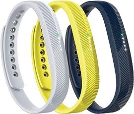 Fitbit Flex 2 Accessory 3 Piece Pack, Sport, Small, 0.12 Pound