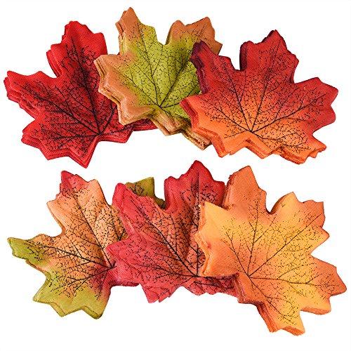 he Herbst-Ahornblätter Ahorn Laub Blätter Multicolor Tabellen-Streuung für Herbst Hochzeiten & Herbst-Parties (Herbst-kunst-projekte)