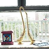 #10: eCraftIndia Cute Love Birds Decorative Metal Figurine (15 cm x 5 cm x 33, Silver and Golden)