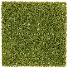 IKEA Hampen - Alfombra, pelo largo, de color verde brillante - 80x80 cm
