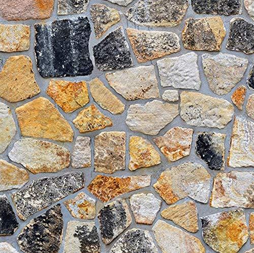 Taogift, carta da parati in finto mattoni con pietra, da attaccare alla parete della cucina, in vinile, per bagno o casa country effetto rustico 17.7